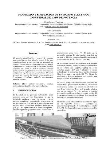 MODELADO Y SIMULACION DE UN HORNO ELECTRICO ... - CEA
