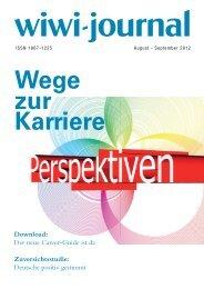 Warum Bildungs- und Karriere - WiWi-Journal