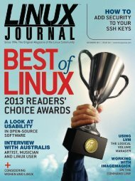Linux Journal | December 2013 | Issue 236