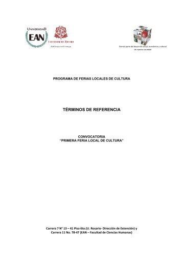 Terminos de ReferenciaLocalidadUsaquen - Universidad del Rosario