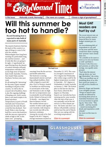 Will this summer be too hot to handle? - The Grey Nomads