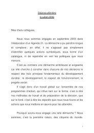 Intervention de Pierre Maille le 6 juillet 2006 vote de l'agenda 21 ...
