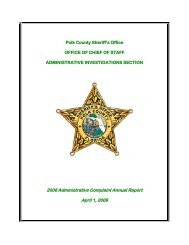 2008 Administrative Complaint Report - Polk County Sheriff's Office