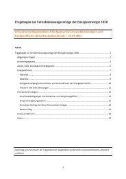 Fragebogen zur Vernehmlassungsvorlage der Energiestrategie ...