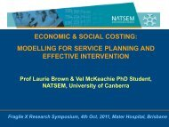 modelling for service planning and effective intervention - NATSEM ...