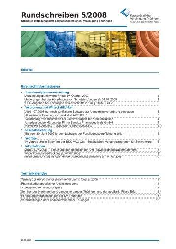 Inhalt879 KB - Kassenärztliche Vereinigung Thüringen