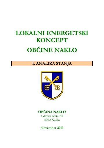 LOKALNI ENERGETSKI KONCEPT OBČINE NAKLO - Občina Naklo