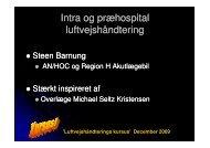 Intra og præhospital luftvejshåndtering - a-kursus.dk