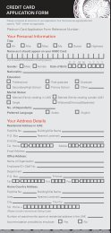 CREDIT CARD APPLICATION FORM - Hsbc