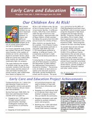 Early Care and Education - Community Action, Inc.