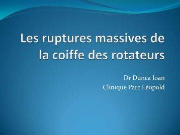 Les ruptures massives - Dr. I. Dunca - CHIRURGIE ...
