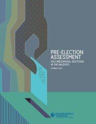 Pre-Election Assessment 2013 - Transparency Maldives