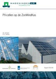 PV-cellen op de ZonWindKas - Energiek2020