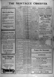 THE MONTAGUE OBSERVER - Muskegon County Genealogy Society