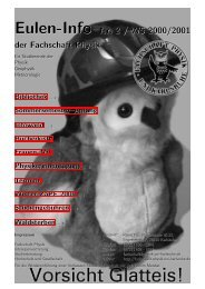 Eulen-Info Nr. 2 / WS 2000/2001 - Fachschaft Physik