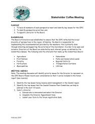 Stakeholder Coffee Meeting - Invasive Plant Council of BC