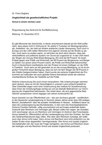 zur Lage - Prof. Dr. Franz Segbers