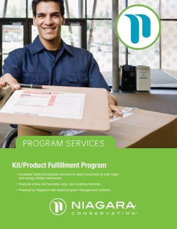 Kit/Product Fulfillment Program - Niagara Conservation