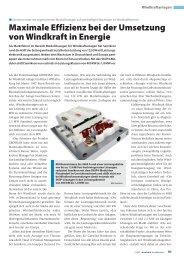 Maximale Effizienz bei der Umsetzung von Windkraft in ... - Semikron