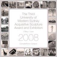 UWS Sculpture Award 2008 Invitation (PDF, 2.23 MB) - Art Gallery ...