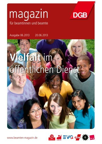zum PDF der Ausgabe 06/2013 - Magazin für Beamtinnen und Beamte