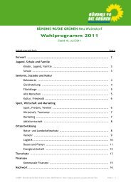 Kommunalwahl-Programm 2011 - Grüne Neu Wulmstorf