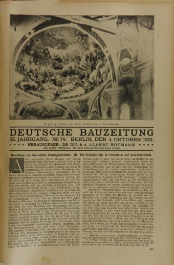 deutsche bauzeitung 55. jahrgang. n2 79. berlin, den 5. oktober 1921.