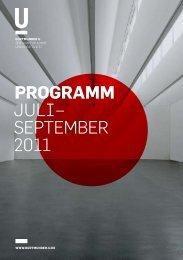 ProgrAmm JulI– september 2011 - Dortmunder U