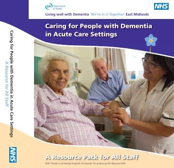 Acute hospital dementia resource pack - cover and spine