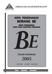 Nota Penerangan BE 2005 - Lembaga Hasil Dalam Negeri