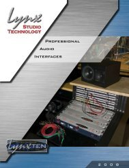 Lynx Professional Audio Interfaces