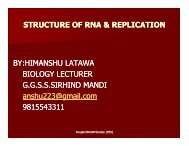 STRUCTURE OF RNA & REPLICATION BY ... - SSA Punjab