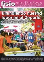 Difundiendo nuestra labor en el Deporte - Colegio Profesional de ...