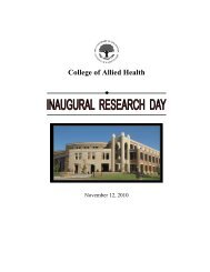 College of Allied Health - University of Oklahoma Health Sciences ...