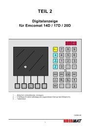 Digitalanzeige für Emcomat 14D / 17D / 20D