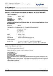 GARDO GOLD Sicherheitsdatenblatt - Syngenta