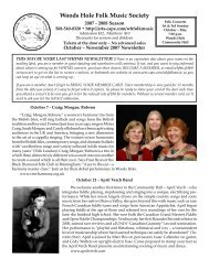 Newsletter 1 - Arts on Cape Cod