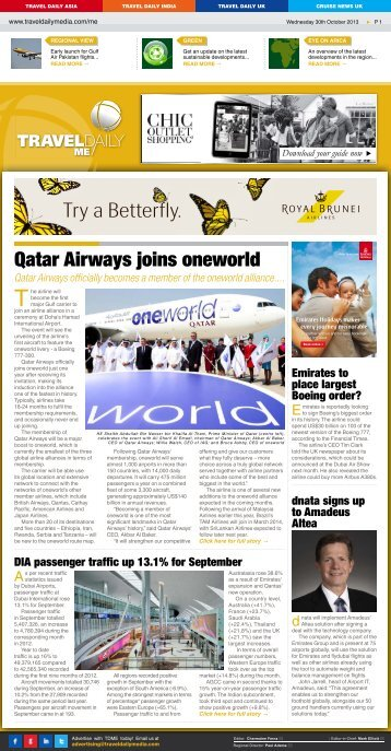 Wednesday 30th October 2013.indd - Travel Daily Media