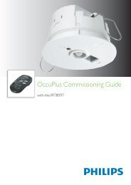 OccuPlus Commissioning Guide - Philips