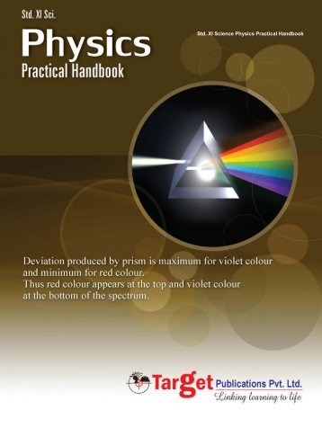 Physics Practical Handbook: Std. 11 Science - Target Publications