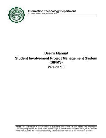 User Manual - De La Salle-College of Saint Benilde