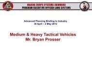 Medium & Heavy Tactical Vehicles Mr. Bryan Prosser - Defense ...