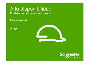 (Disponibilidad - Sistemas de Automatización) - Schneider Electric