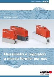 Flussimetri e regolatoria massa termici per gas - Volta SpA