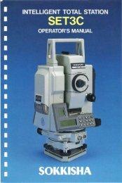 Operator´s Manual Sokkisha SET3C - Glm-laser.com