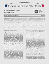 A Full-Court Press Against Nuclear Anarchy - The Stanley Foundation