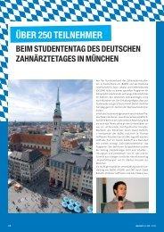 Über 250 Teilnehmer beim Studententag des ... - zahniportal.de