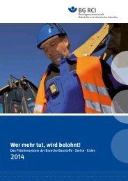 Prämiensystem Broschüre Baustoffe 2014 - Berufsgenossenschaft ...