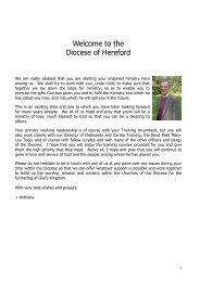 Welcome to the Diocese of Hereford