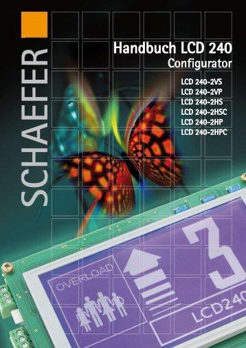 Handbuch LCD 240 - SCHAEFER